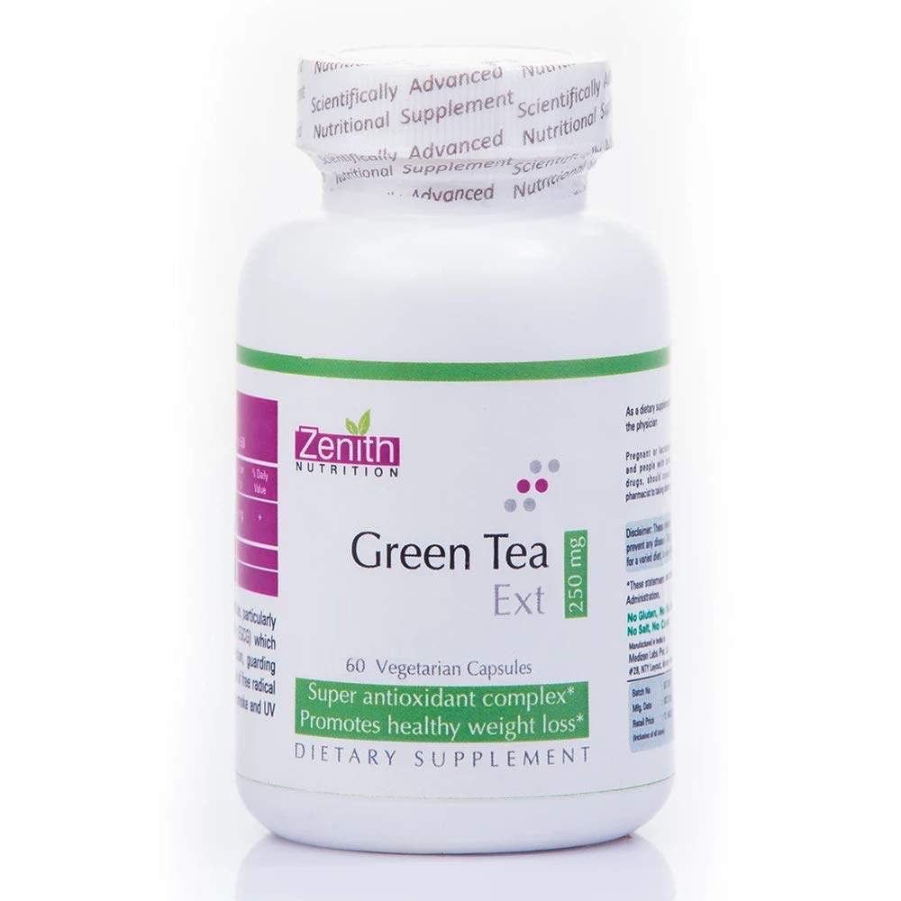 Zenith Nutrition Green Tea Extract 250mg - 60 Capsules Size:250mg