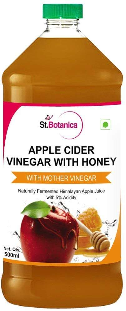 St.Botanica Apple Cider Vinegar with Mother Vinegar and Honey - 500 ml by StBotanica