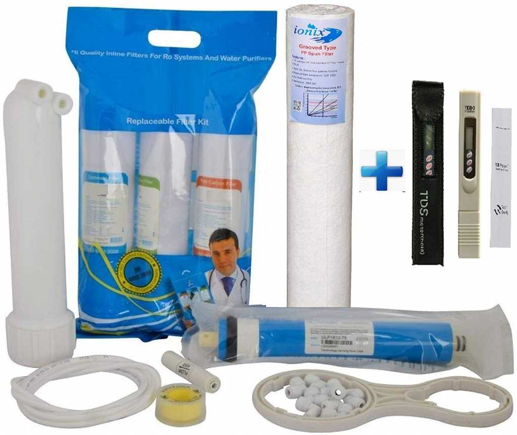 Ionix Ro Service kit with Membrane & TDS Meter, Universal Types, Fits in All Domestic RO/UV/UF Water purifiers