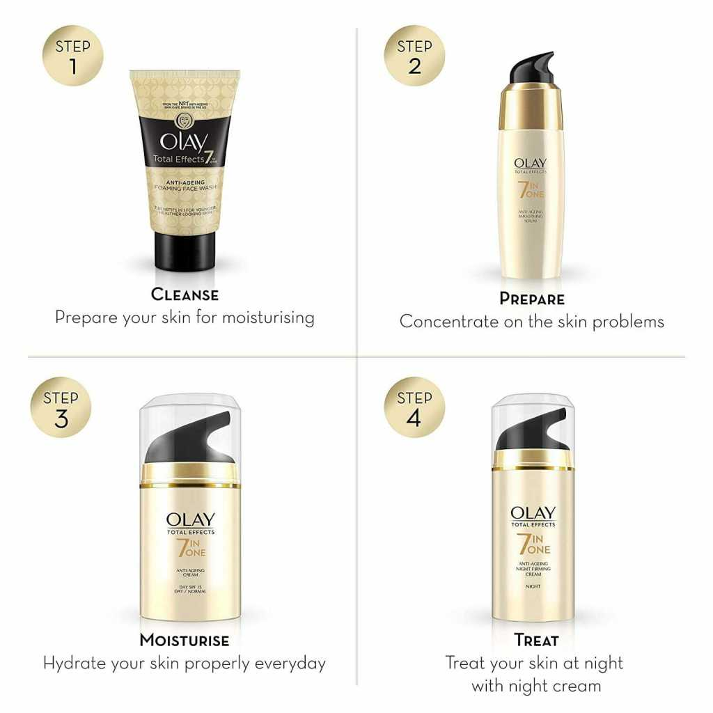 Olay Day Cream Total Effects 7 in 1, Anti-Ageing SPF 15,