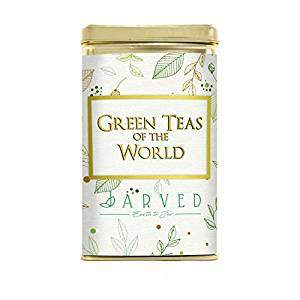 Jarved Green Teas of The World Assorted Box: 8 Exclusive Loose Leaf Green teas (8 Flavors, 2X5g Each, Total 80gm)