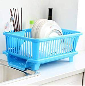 Isel Kitchen Sink Dish Drying Drainer Rack Holder Basket Organizer Utensils Tools Cutlery Rack Sink Dish Holder Basket with Tray