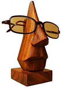Desi Karigar Spectacle Holder Specs Eyeglasses Box Wood Eye Cover Goggles Stand Handicraft